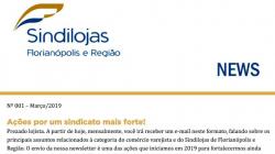 Newsletter Sindilojas nº 001 – março/2019