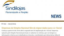 Newsletter Sindilojas nº 002 – abril/2019