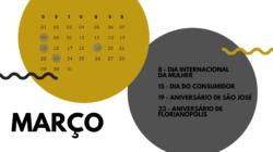 Agenda de feriados e datas comemorativas de março de 2020